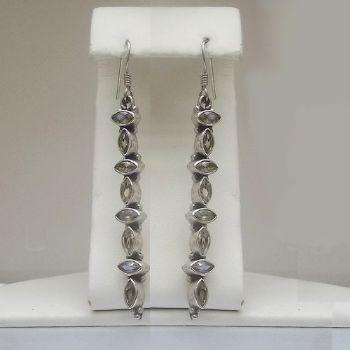 Stunning Long Faceted Peridot Earrings